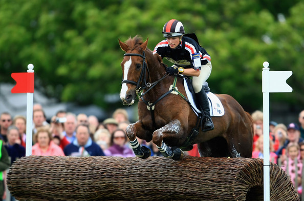 Zara Phillips competing at Badminton Horse Trials