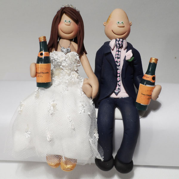 totally toppers a personalised bride groom for your wedding cake