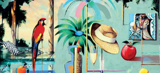 Saint Peter's Bay Barbados hosts Andrew Hewkin's Art Exhibition