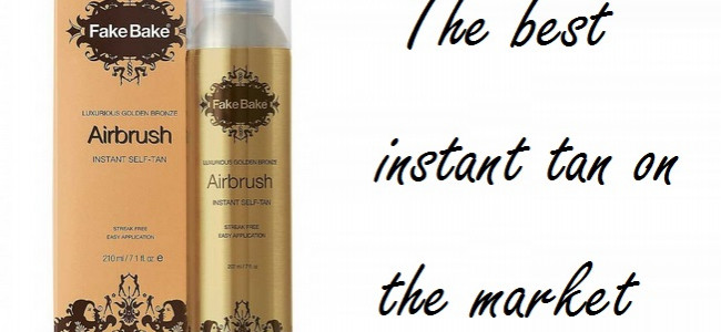 The Fake Bake hero product: Airbrush Instant Self Tan Golden Bronze