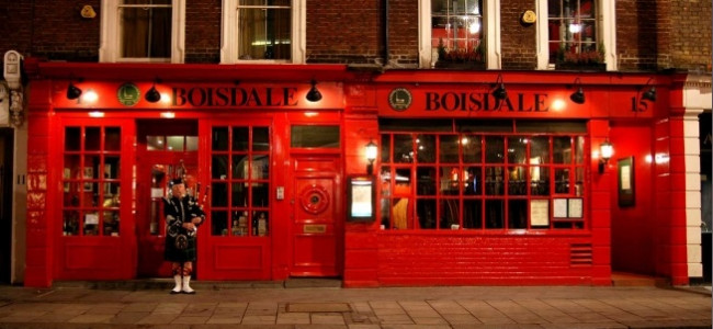 Date night at Boisdale of Belgravia