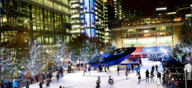 Canary Wharf Ice rink returns with Q on Ice pop-up