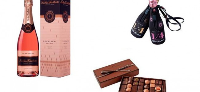 Spoil your loved one with champagne and chocolates