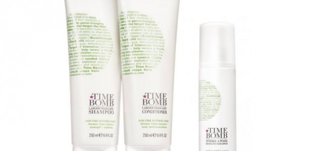 Give your hair a volume boost with the Time Bomb hair range