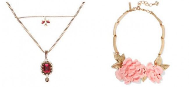 Statement necklaces for the Christmas party season