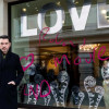 Roland Mouret declares his love on The May Fair Hotel's windows