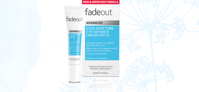 Protect your skin from winter sun with Fade Out Advanced Even Skin Tone Eye Defence Cream