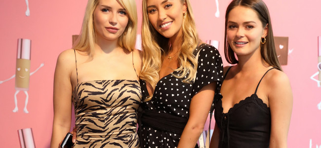 Celebrity guests attend the launch of two new foundations by Benefit Cosmetics