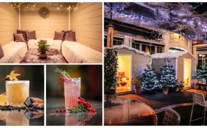 Bluebird Chelsea's courtyard has received a Swan Lake inspired makeover this Christmas