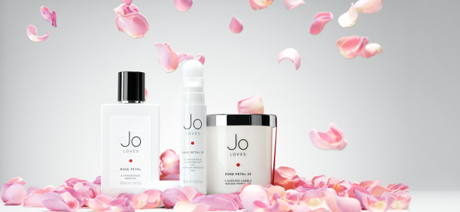Jo Loves launches new candle and Fragrance Paintbrush in Rose Petal 25