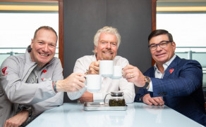 Sir Richard Branson launches his new luxury Virgin Voyages cruise ship in Dover