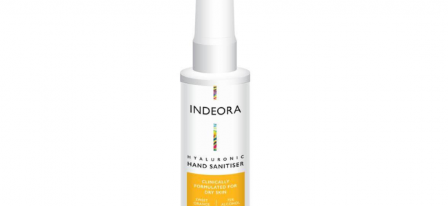 Indeora hand sanitiser helps nourish your skin while keeping your hands clean