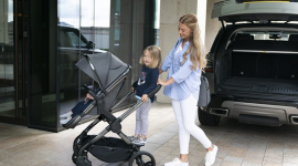 Mum-to-be: The iCandy Peach Ride-on Board enhances this perfect pushchair