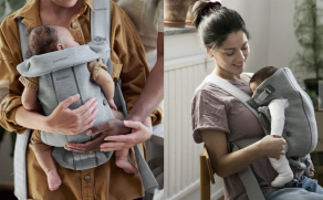Carry your newborn in comfort and style with the BabyBjorn Baby Carrier Mini