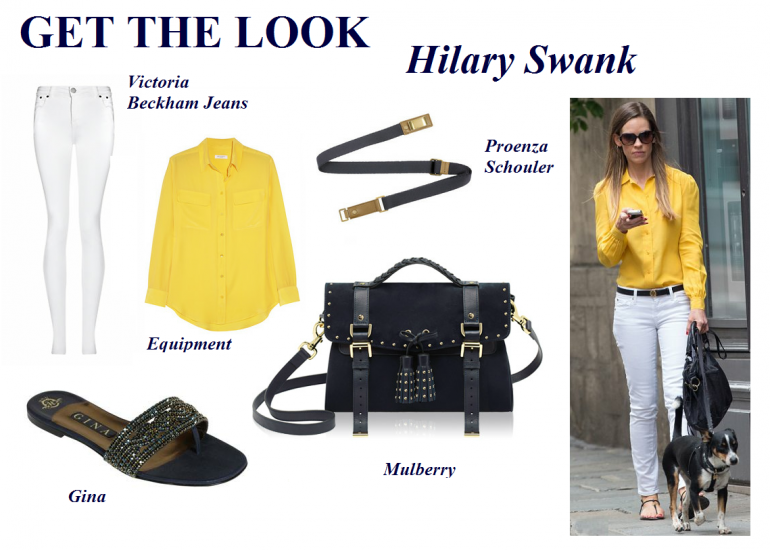 Hilary Swank recently stepped out in a perfect outfit for the unpredictable summer forecast
