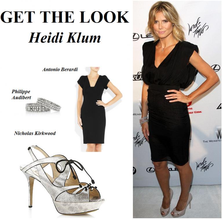 Get The Look Work The Little Black Dress Like Heidi Klum