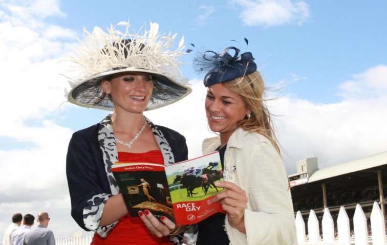 The Season: The Sloaney's editor, Laura Toogood, with Katie-Ann Lamb at the Dubai Duty Free Irish Derby (Photo: Conor Healy Photography)