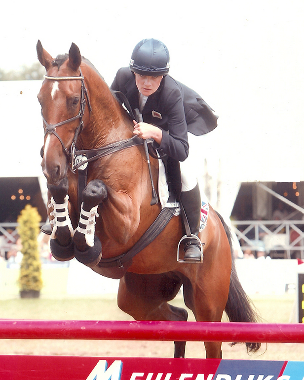 Laura Toogood competing at an International Event in Holland