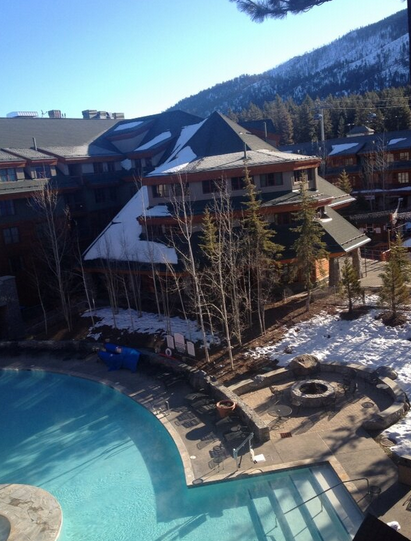 The luxurious Marriott Grand Residence features a pool and hot tubs at the base of the slopes