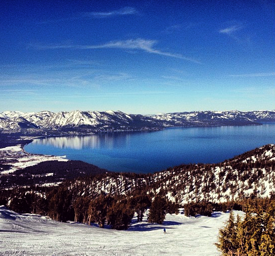 The views are breathtaking as you ski down the slopes at Heavenly Ski Resort