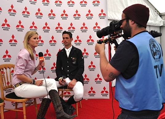 Jenny Rudall interviews the winner Jonathan Paget for Horse and Country TV