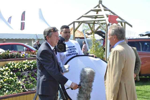 Hugh Thomas, Director and Course-Designer of Badminton Horse Trials, is interviewed by the BBC