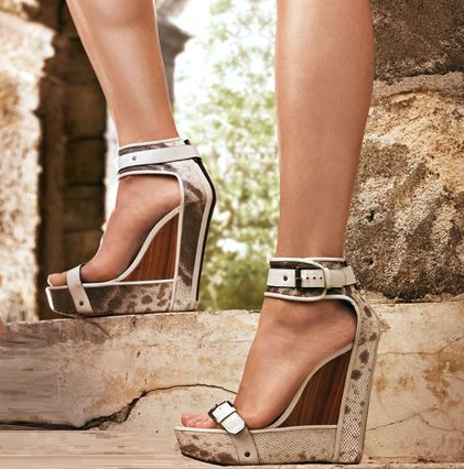 Statement wedges are a must this season such as these from Belstaff