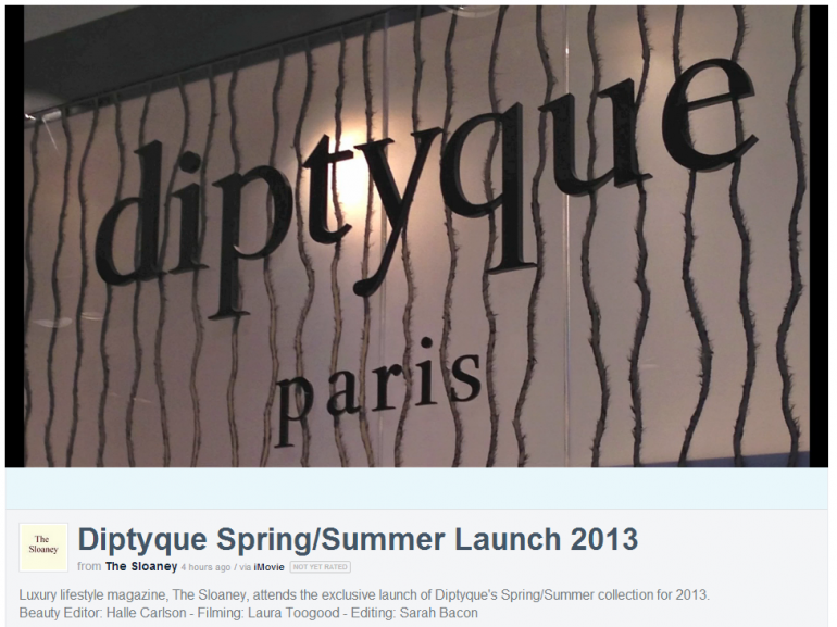 Watch our highlights from the Diptyque Launch presented by our Beauty Editor Halle Carlson