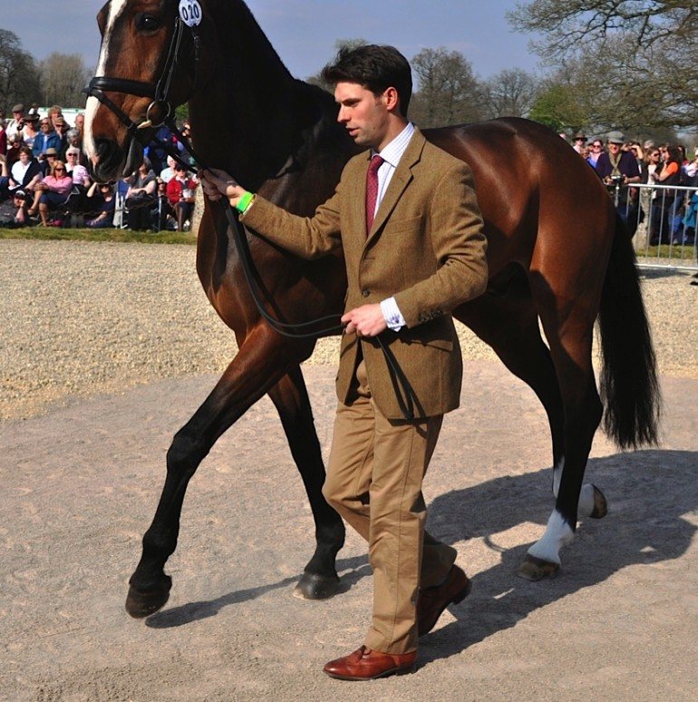Harry Meade also picked tweed for the occassion