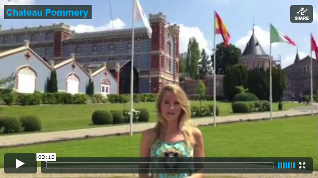 Laura Toogood visits Chateau Pommery in Reims. Click to watch.