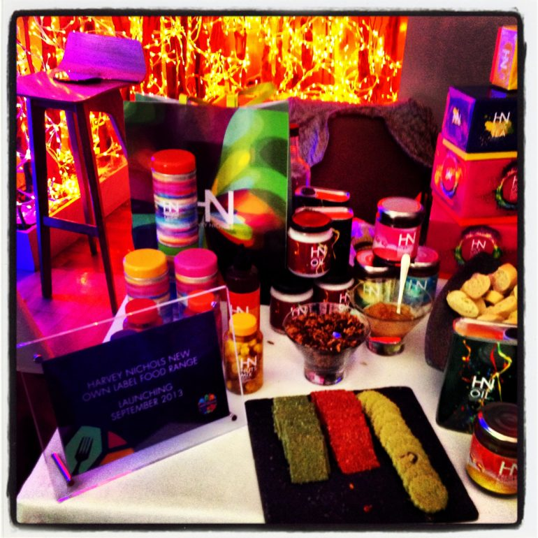 The new home brand food range from Harvey Nichols is very colourful is designed to help with portion control
