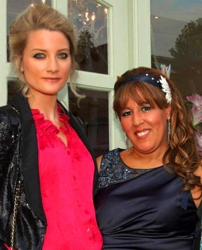 Laura Toogood with the owner of La Durbin, Latifa Durbin