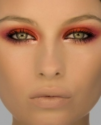 Smoking Hot: Warm tones will help blue and green eyes stand out