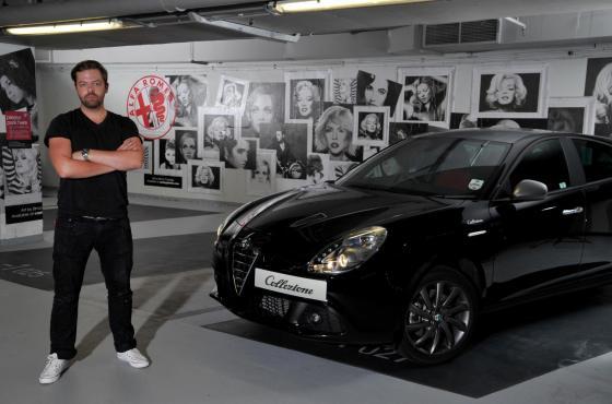 Simon Claridge has transformed the underground parking spaces of Q-Park Oxford Street into a striking art installation