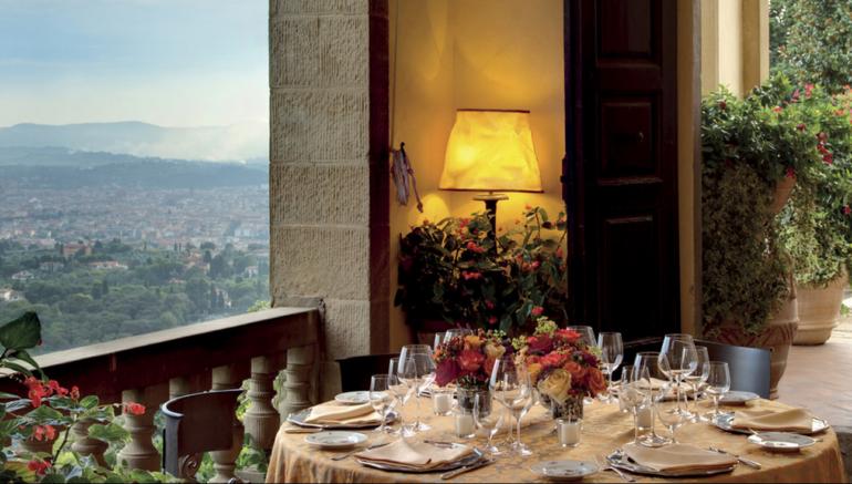 Dining at Villa San Michele