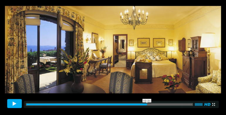 Click to watch a tour of the grounds of Villa San Michele on Sloaney TV