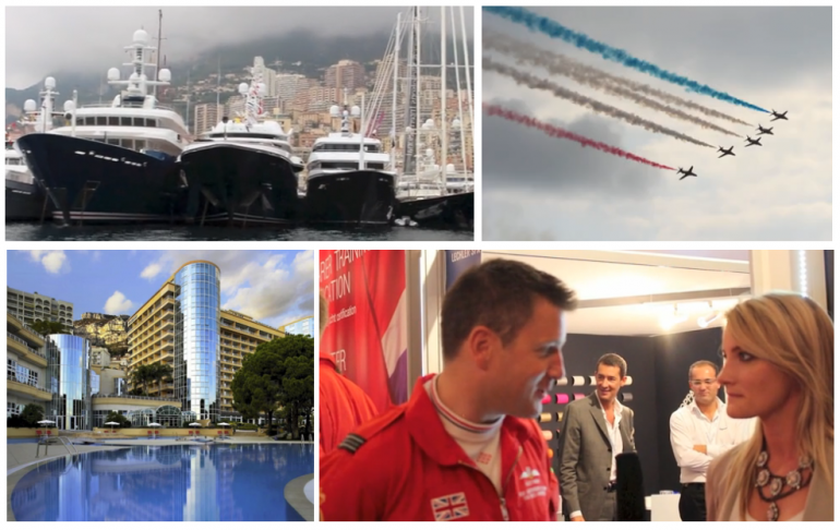 Highlights at the Monaco Yacht Show included a display by the Red Arrows