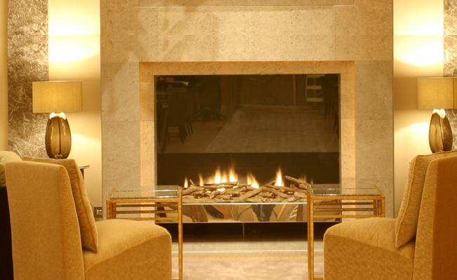 The Hyatt Churchill has welcoming fireplaces