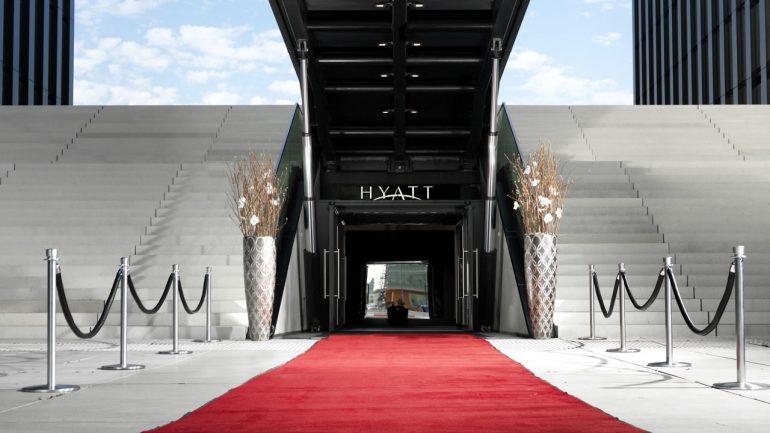 The Hyatt Regency is modern and luxurious