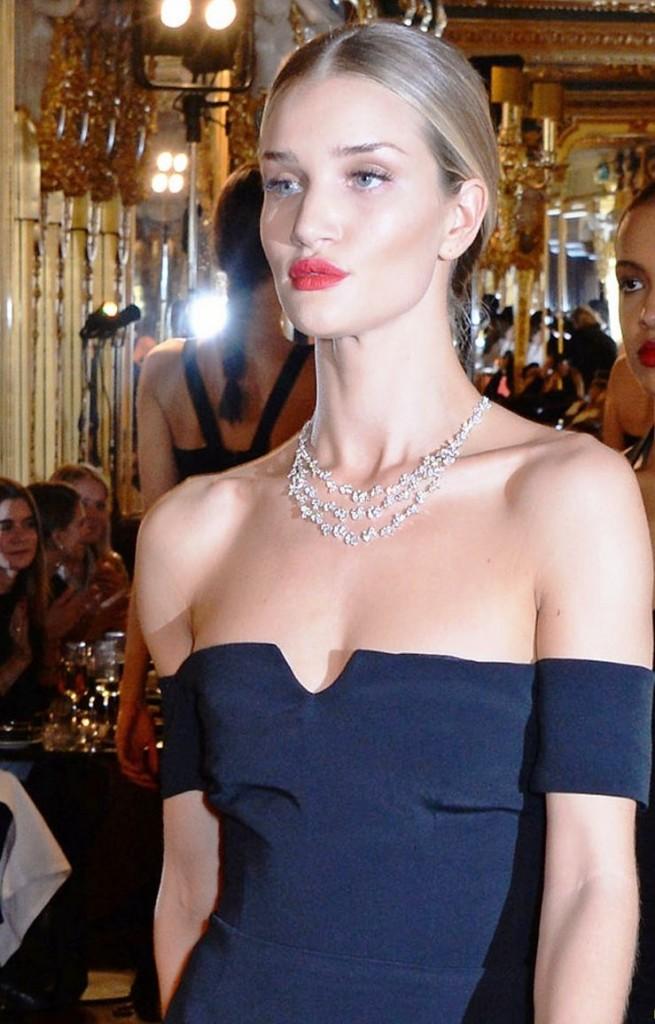 British supermodel Rosie Huntington-Whiteley takes to the runway
