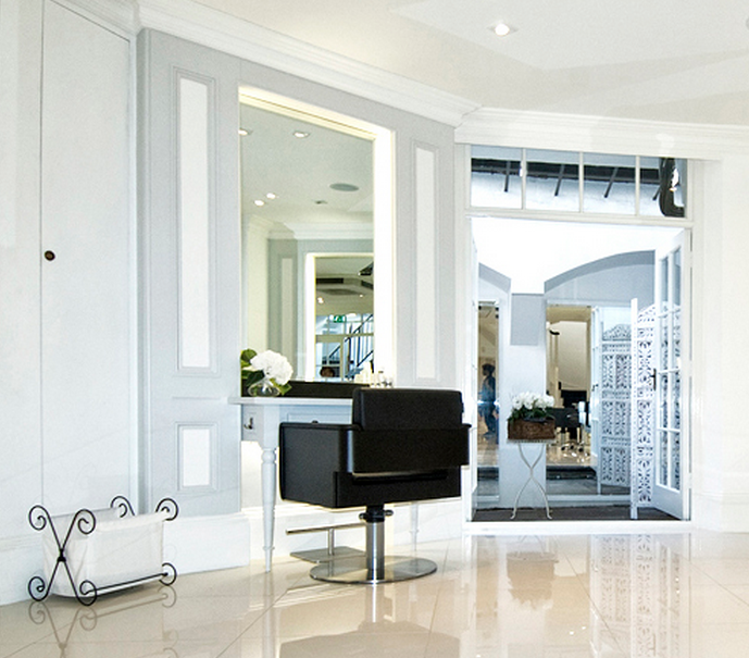 The salon is located in Belgravia