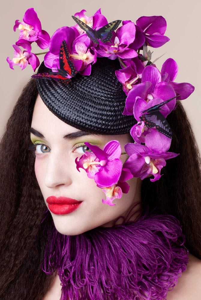 The Orchid Headpiece by Zara Carpenter