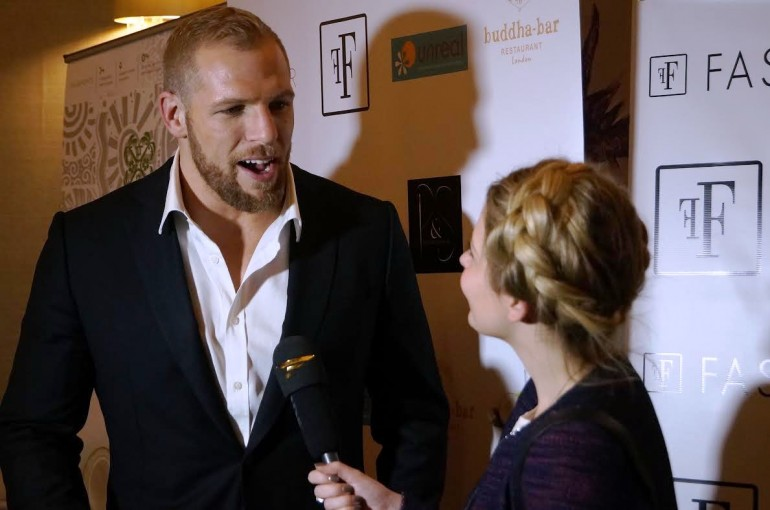 James Haskell has been wearing his shirts to lots of events