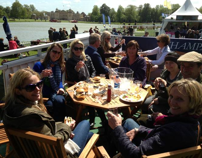 Sue Tulloch, wife of joint Outside Chance owner Freddie, enjoying a day out with friends