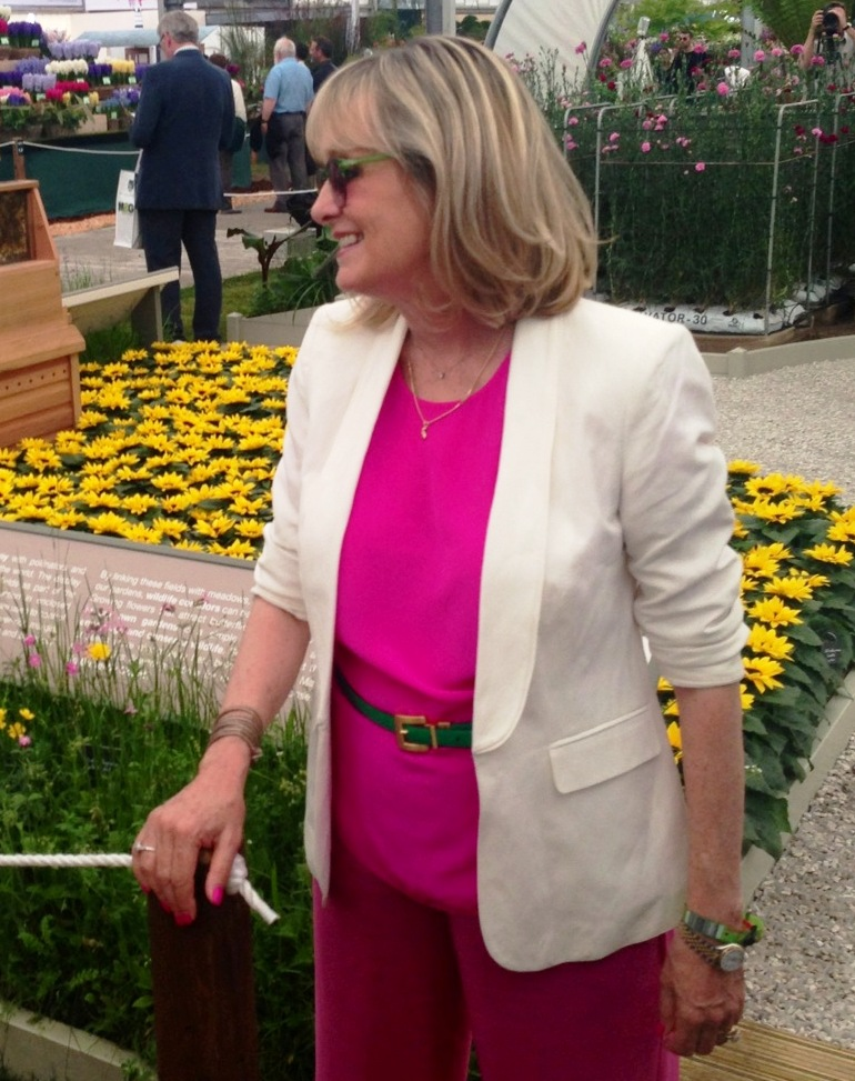 Twiggy wore pink for the M&S garden