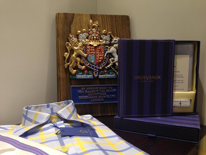 Grosvenor Shirts has a Royal Warrant