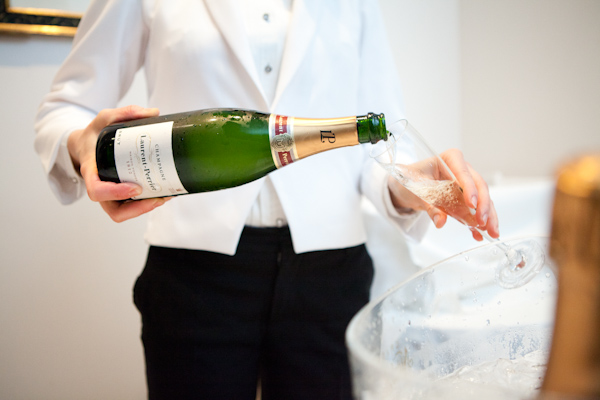 Free flowing Laurent-Perrier champagne