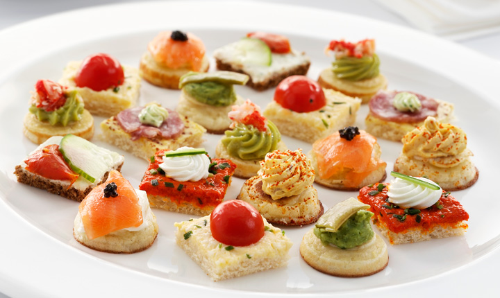 Canapes are perfect for a Hen at home
