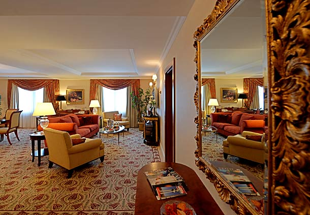 The Presidential Suite is the Marriott's top offering