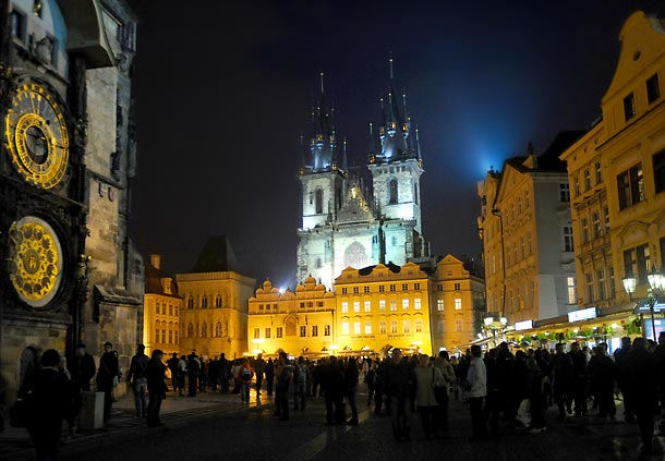 The main square in Prague